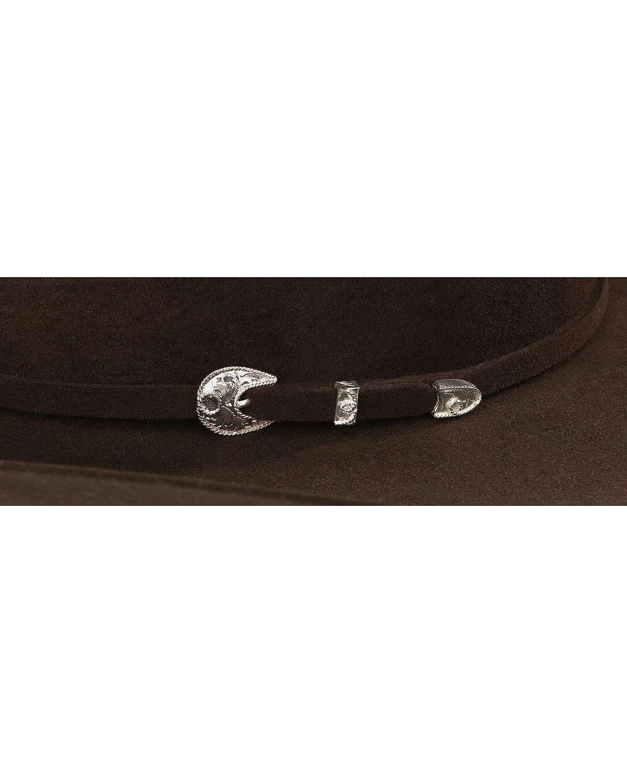 Stetson Men's 4X Corral Buffalo Felt Cowboy Hat Chocolate 7 5/8 by Stetson (Image #1)