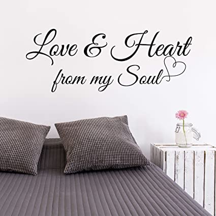 Amazon Com Trfhjh Quotes Wall Sticker Home Art Love Heart From My