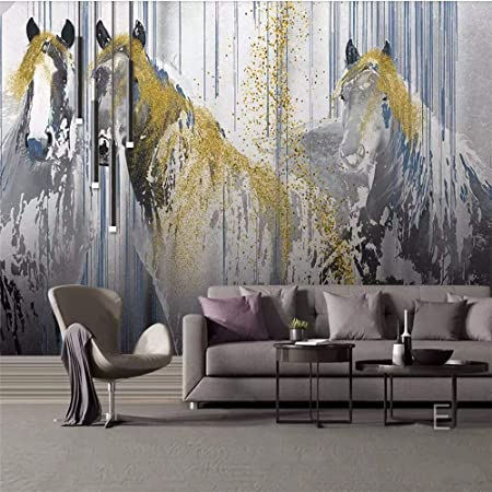 3D Horse Painted Paper Wall Print Wall Decal Wall Deco Indoor Murals