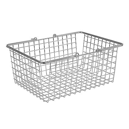 Beau Amazon.com: Spectrum Diversified Wire Storage Basket, Large, Chrome: Home U0026  Kitchen