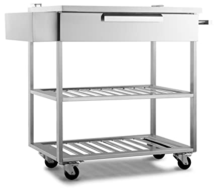 outdoor kitchen cart centro new age 65007 products 32quot bar cart in stainless steel outdoor kitchen storage classic amazoncom 32