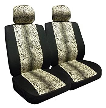 Allison 67-6313BLK Leopard Air Bag Compatible Seat Cover