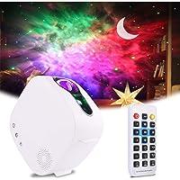 Aled Light Led-projector, maan, sterrenhemel projector, 4-in-1, 360 graden draaibaar, met RF-afstandsbediening en…