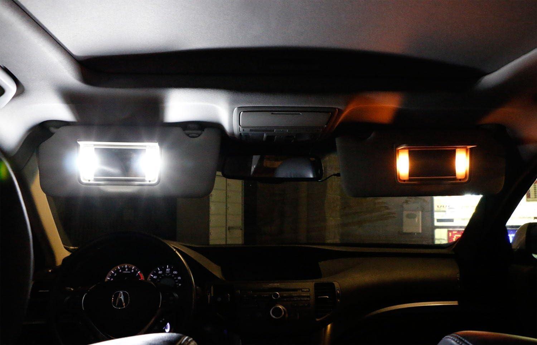 6615F 6612F Pack of 10-31MM 1.25 DE3175 DE3021 DE3022 3175 Xenon White Extremely Bright 4014 9SMD LED Festoon Bulbs 12V Vanity Mirror Light Bulb Stock #