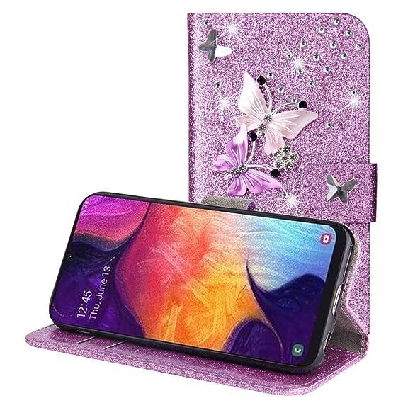 Amazon.com: Compatible with Samsung Galaxy A50 Case Wallet ...
