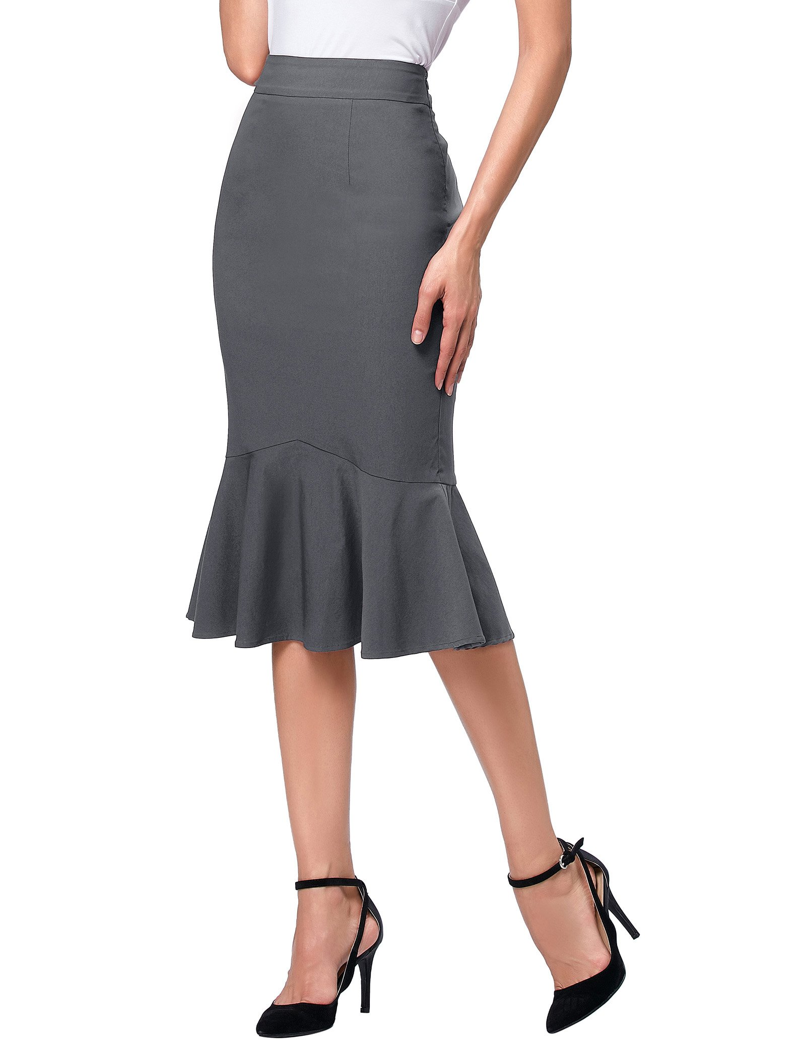 TrendyFashion Mermaid Pencil Office Skirts for Women Work Wear M K241-4