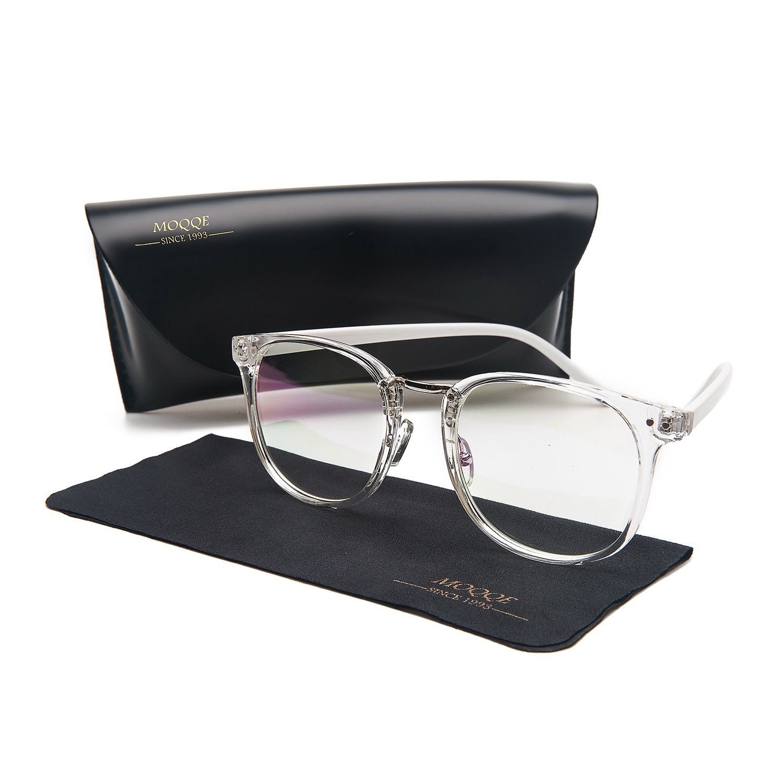 Eyewear Frames Eyeglasses Optical Frame Wayfarer Fashion Clear Lens Glasses For Women&Men(C5)