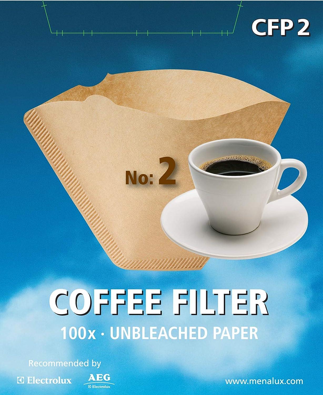 Menalux CFP2 - Filtro desechable para café (100 unidades) : Amazon.es: Hogar