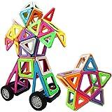 Magnetische Bausteine, Innoo Tech 77 Teile größe Bauklötze, Inspirierender Standard Bausatz, 2rd Generation, Konstruktionsbausteine Magnetspielzeug, populäres pädagogisches Lernspiel, Tolles Geschenke für Baby Kleinkinder ab 3 Jahre