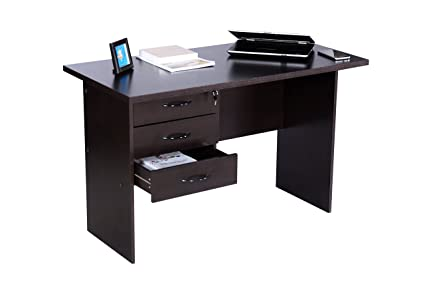 deckup reno office desk and study table dark wenge matte finish rh amazon in office furniture reno nv national office furniture reno