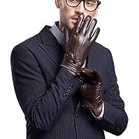 FARARILAISI Men's Genuine Leather Touchscreen Winter Gloves Driving Glove