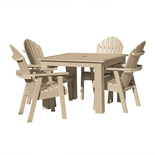 highwood AD-DNA44-TAU Hamilton 5-Piece Square Dining Set, Height, Tuscan Taupe