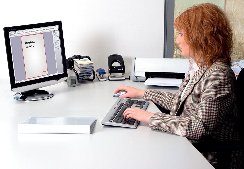 Esselte 49704 Essentials Presentation Binder 4 D Ring 40mm Capacity White
