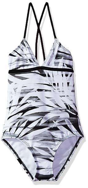 6c4a31b23c113 Amazon.com: Reef Big Girls' Desert Palms One Piece Swimsuit, Black ...