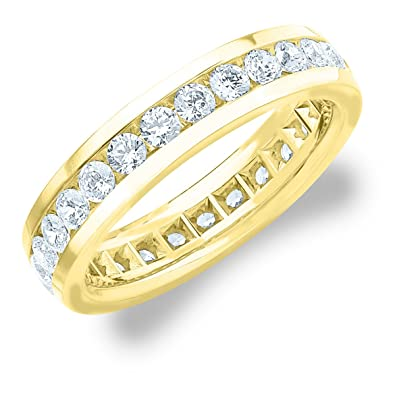 2 0 Ct Men S Diamond Eternity Ring In 18k White Gold Mens Diamond