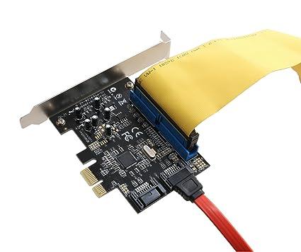 SYBA Combo - Tarjeta PCI Express (2 Puertos SATA y 1 Puerto IDE, Placa de Perfil bajo)