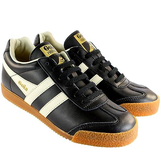 Damen Schuhe Gola Harrier Leder Low Profile Sneakers Trainers ...