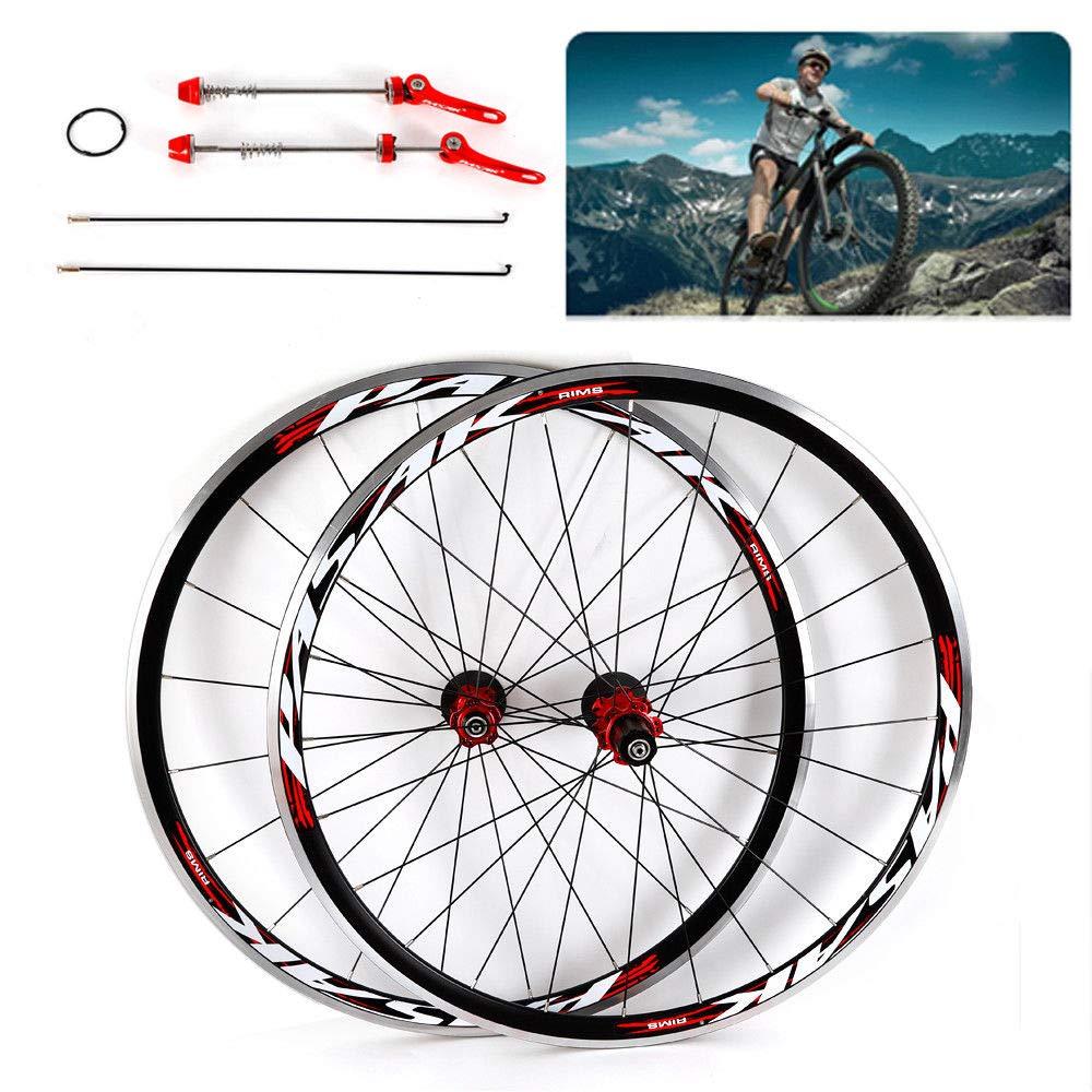 NOPTEG 700C Bicycle Bike Wheel Front Rear Wheel Wheelset Aluminium Alloy Rim 30mm USA by NOPTEG (Image #5)