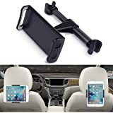 "Eschone 360 Degree Rotatable Adjustable Car Seat Cradle Holder for iPad Pro 10.5/9.7/Air/Mini, iPhone X/8/7 Plus/6s, Galaxy Note 8/S8+/S8 (Fit 4-11"" Devices) - Black"