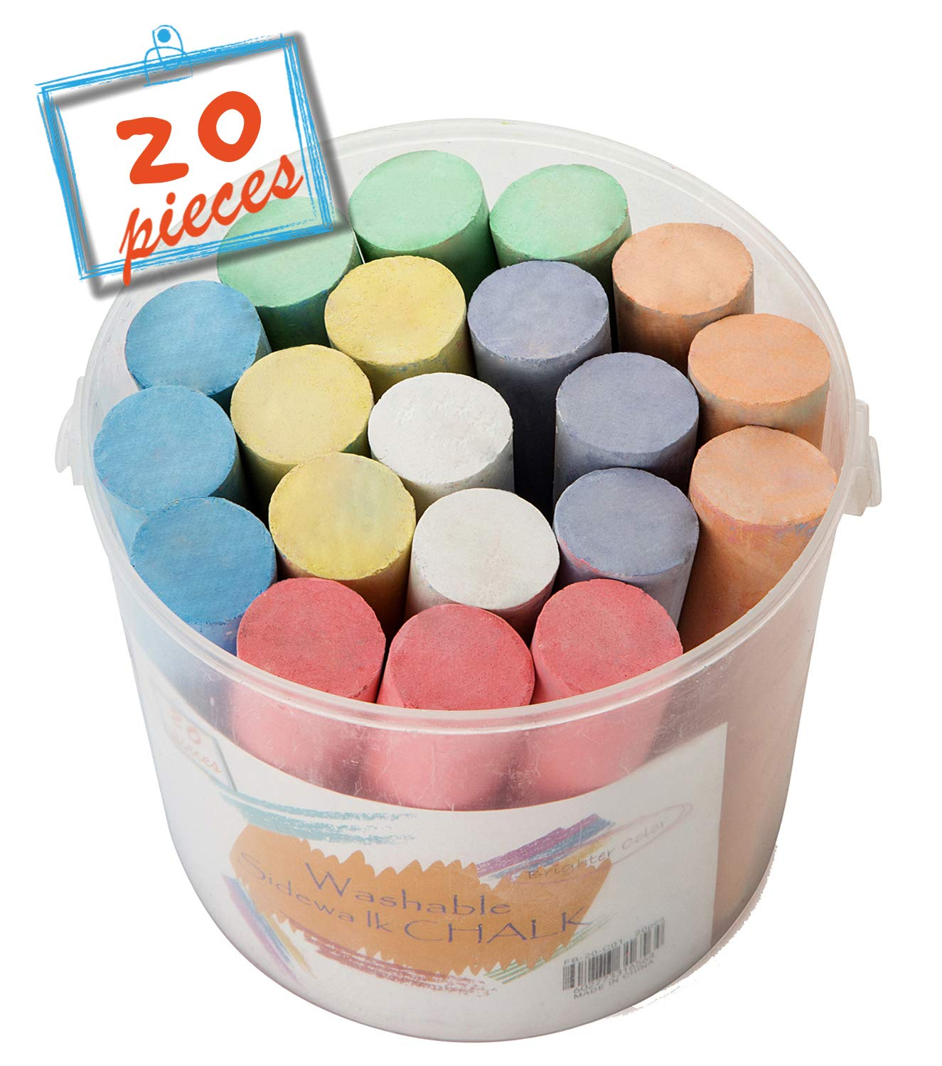 (36 ct Box) Sidewalk Chalk Set Colorful Non-Toxic Dustless Chalk SOTEN