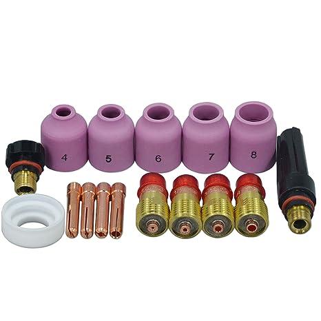 10 Stücke Tig Alumina Düse Gas Objektiv Tasse 53n59 5 # Fit Wig-schweißbrenner Zubehör Sr Pta Db Wp 9 20 24 25 Serie Werkzeuge