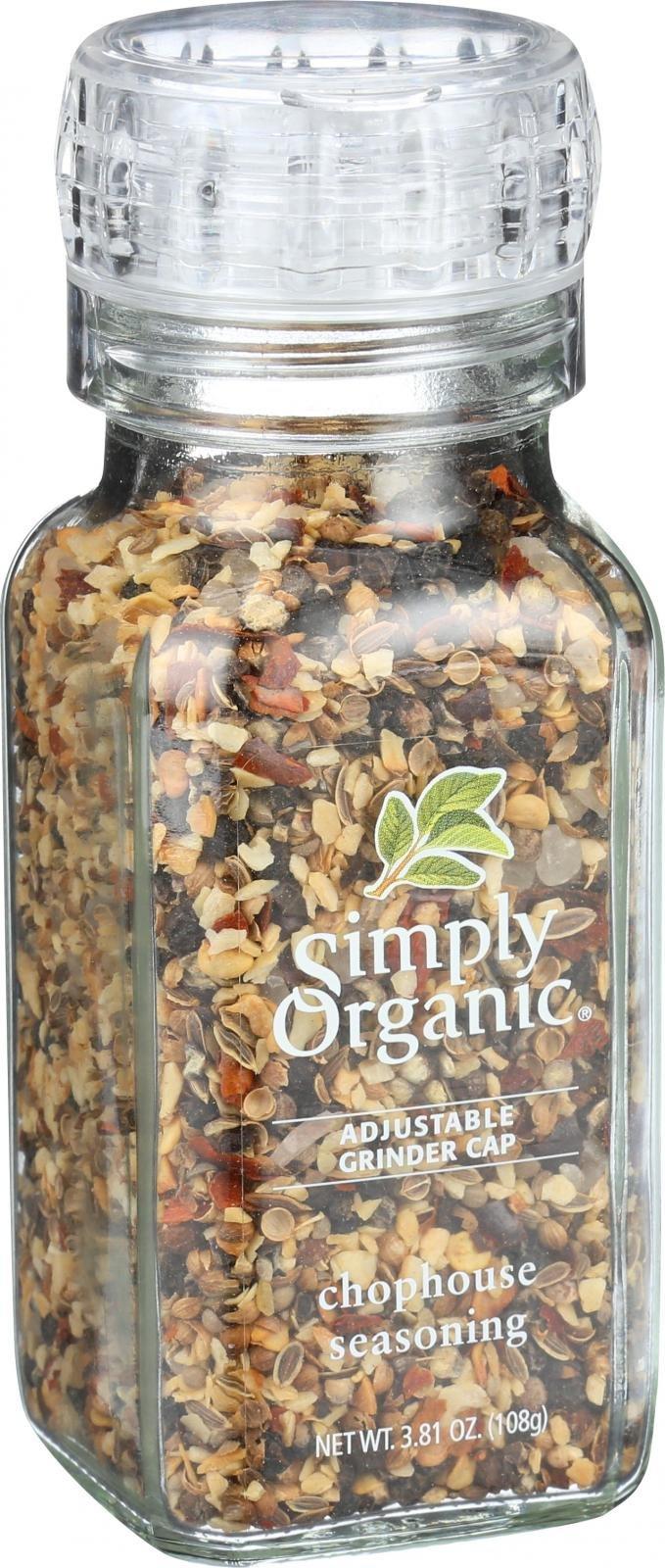 Simply Organic Chophouse Seasoning - Organic - Grinder - 3.81 oz - 95%+ Organic - Kosher