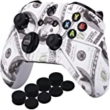 YoRHa Printing Rubber Silicone Cover Skin Case for Xbox One S/X Controller x 1(US Dollar) with PRO Thumb Grips x 8