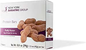 New York Bariatric Group Fluffy Nutter Protein Bar - Low Carb - 15g Protein - High Fiber - Gluten Free