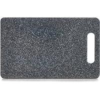 Zeller Planche à découper en plastique avec poignée Effet granite, plateau, planche à découper en 3tailles