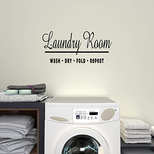 Wall Sticker Home Decors Laundry Quotes Lettering Art Stickers House Decorative