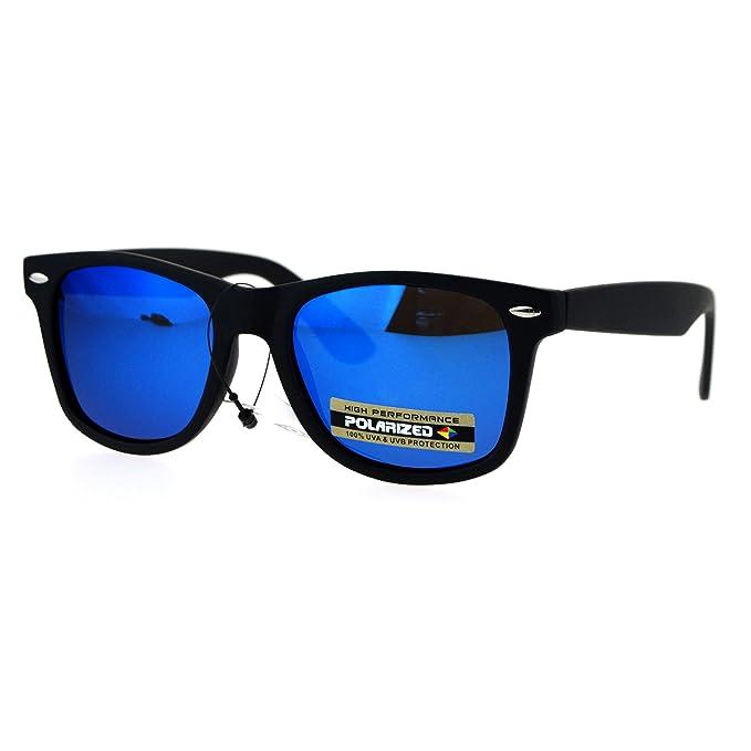 Amazon.com: Polarized Mirror Lens anteojos de sol Classic ...