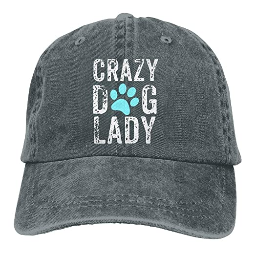 f5257768ab5 Image Unavailable. Image not available for. Color  Crazy Dog Lady Paw  Yarn-Dyed Denim Baseball Hat ...