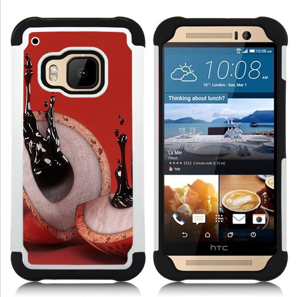coconut abstract ink meaning red - - Dual Layer Armor Defender Case