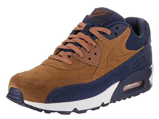 Nike Men's Air Max 90 Premium SE Running Shoe 11.5 Brown