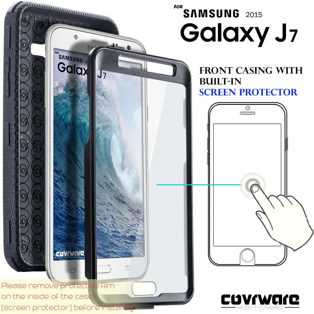 premium selection e63eb d14af COVRWARE Samsung Galaxy J7 (2015)/ J700 [Aegis Series] Built-in [Screen  Protector] Heavy Duty Full-Body Rugged Holster Armor Case[Belt ...