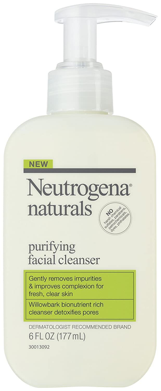 Amazon.com : Neutrogena Naturals Purifying Facial Cleanser, 6 Ounce, (Pack  of 2) : Facial Liquid Cleansers : Beauty
