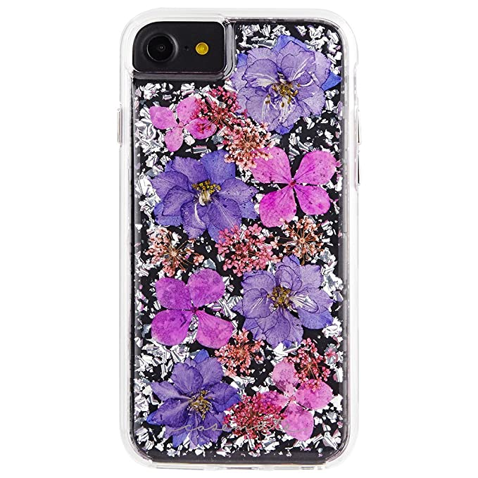 sports shoes b5aa7 553d2 Case-Mate iPhone 8 Case - KARAT PETALS - Made with Real Flowers - Slim  Protective Design for Apple iPhone 8 - Purple Petals