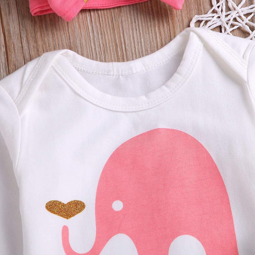 NUWFOR Newborn Infant Baby Girls Cartoon Giraffe Tops+Dot Tutu Dress Outfits Set T-3.28