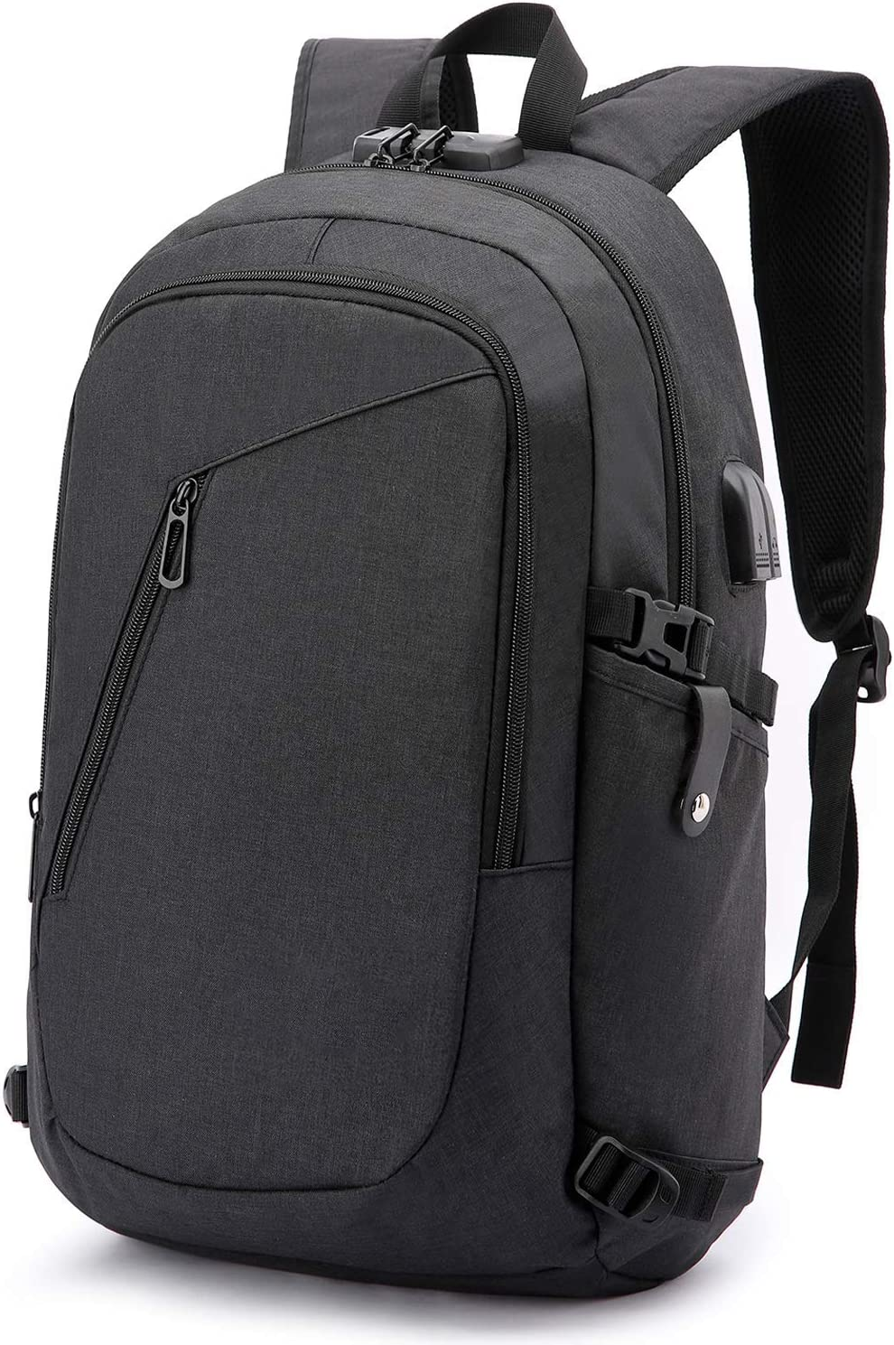 Anti-theft Business Laptop Backpack With USB Charge Port ,Lightweight Outdoor Waterproof Travel College Backpack Q-001