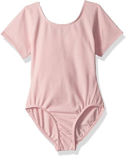 DANCE LINE Pink Short Sleeved Leotard