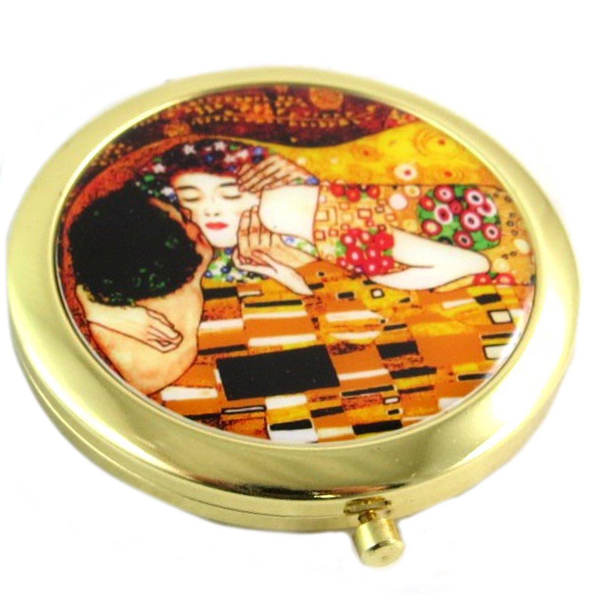 Les Tré sors De Lily [Q0178] - Collector mirror 'Gustav Klimt' (the kiss)- 7 cm (2.76''). Les Tresors de Lily 040801FAN062018Q017800
