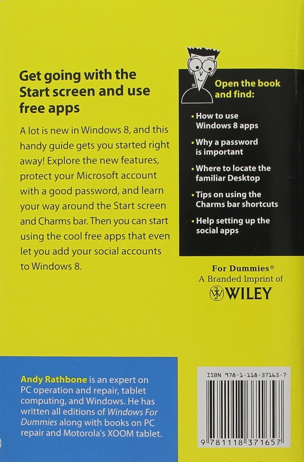 windows 8 for dummies andy rathbone 9781118371657 amazon com books rh amazon com Dummies Guide to the Courtroom Dummies Guide to Vaccines