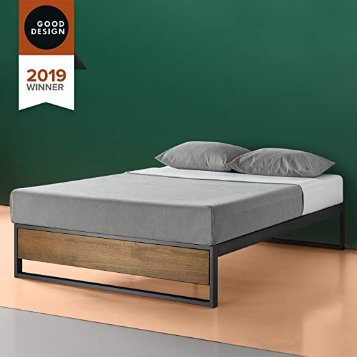 Amazon Com Zinus Suzanne 14 Inch Platform Bed Without Headboard