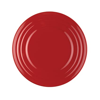 Rachael Ray Dinnerware Double Ridge Salad Plate Set 4-Piece Red  sc 1 st  Amazon.com & Amazon.com | Rachael Ray Dinnerware Double Ridge Salad Plate Set 4 ...