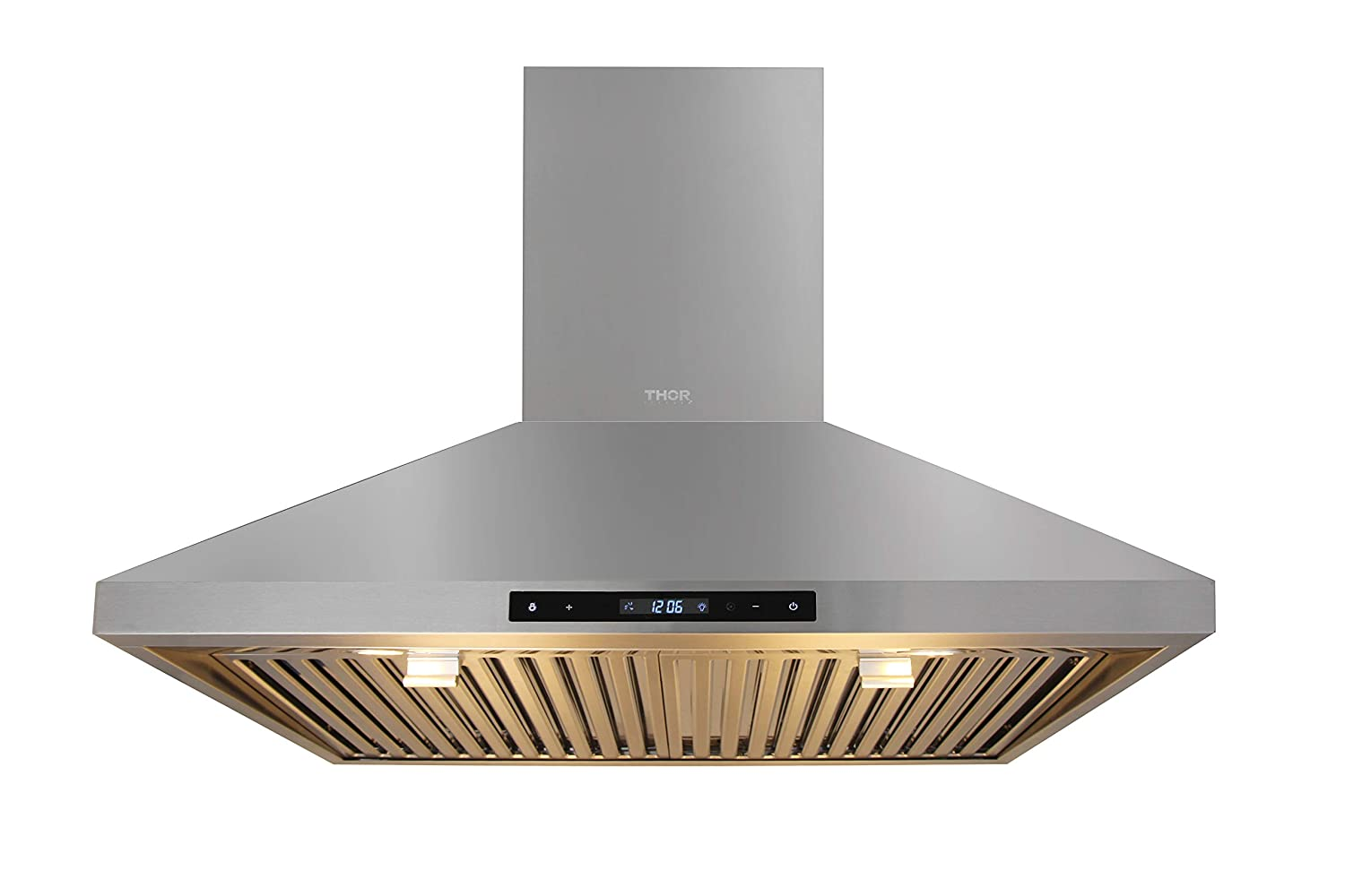 """Thorkitchen 30"""" Wall Mount Range Hood, Stainless Steel Touch Panel Kitchen Cooking Fan"""
