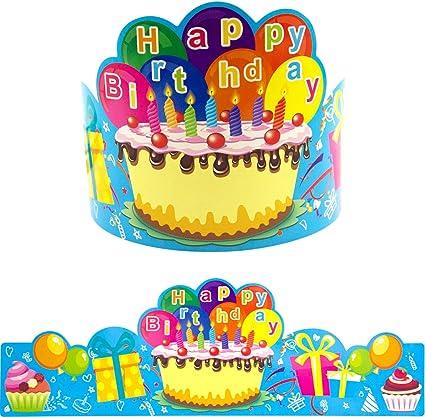 Amazon.com: Fancy Land - Coronas de cumpleaños para niños ...
