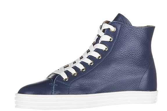 Chaussures baskets sneakers hautes femme en cuir r182 sfoderato Hogan Rebel 883L95B