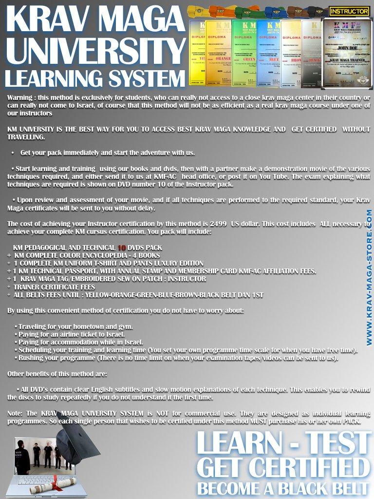 Amazon Krav Maga University Full Cursus Certification Sports