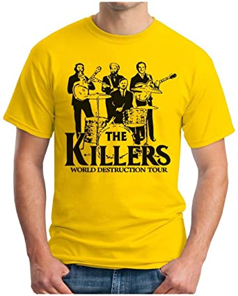 OM3 KILLERS WORLD DESTRUCTION TOUR - T-Shirt Punk Rock Hardrock Music  Parody Geek,