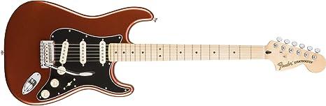 Fender 0147302305 Guitarra eléctrica de madera de arce Stratocaster para diapasón, color blanco olímpico